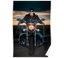 Skeggy Cruiser on Ebony front view no helmet Poster