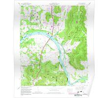 USGS TOPO Map Alabama AL Farley 303820 1964 24000 Poster