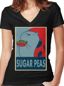 Catbug for President Women's Fitted V-Neck T-Shirt