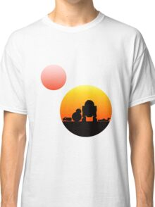 When Two Worlds Collide Classic T-Shirt