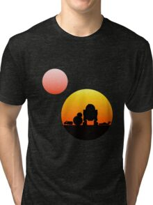 When Two Worlds Collide Tri-blend T-Shirt