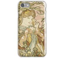 Alphonse Mucha - Lady With Daisy 1898 iPhone Case/Skin