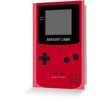 Game Boy Red Greeting Card