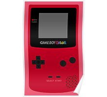 Game Boy Red Poster
