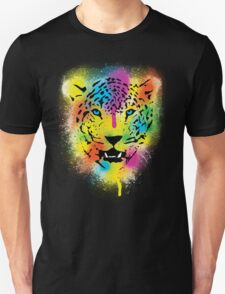 POP Tiger - Colorful Paint Splatters and Drips - Stained Canvas Art  T-Shirt