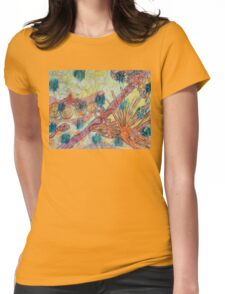 Beach Vegetation With Octopus Womens Fitted T-Shirt