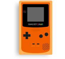 Game Boy Orange Canvas Print