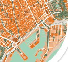 Barcelona city map mediterránea Sticker