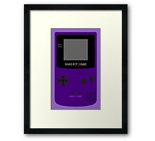 Game Boy Indigo Framed Print