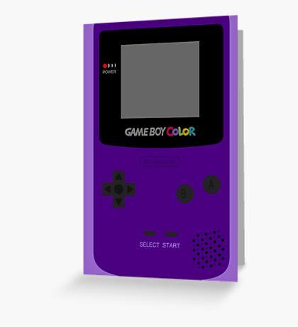 Game Boy Indigo Greeting Card