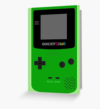 Game Boy Green Greeting Card