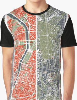 Six Cities map Graphic T-Shirt