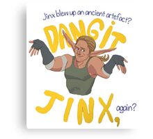 Dangit, Jinx Canvas Print