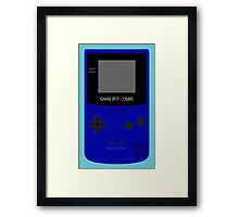Game Boy Blue Framed Print