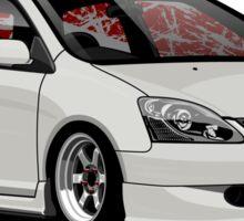 Civic VII (white) Sticker