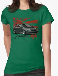 Civic VII (black) Womens Fitted T-Shirt