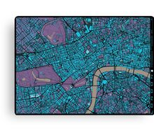 London city map twilight Canvas Print