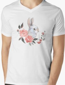 White rabbit  Mens V-Neck T-Shirt