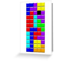 Colorful Tetrominoes Greeting Card