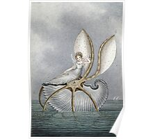 Vintage famous art - Amelia Jane Murray  - A Fairy Resting On A Shell Poster
