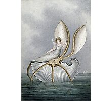 Vintage famous art - Amelia Jane Murray  - A Fairy Resting On A Shell Photographic Print