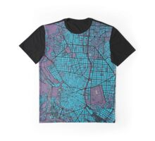Madrid city map twilight Graphic T-Shirt