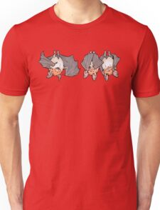 Three greater mouse-eared bats Unisex T-Shirt