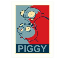 "GIR Piggy- ""Hope"" Poster Parody Art Print"