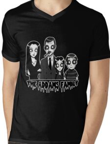 The Addams Family Portrait Mens V-Neck T-Shirt