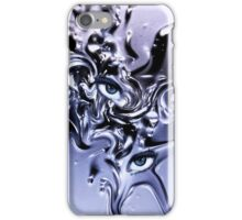 Eyes structure Blue iPhone Case/Skin