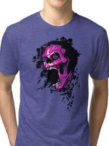 Wicked Skull With Paint Splatters Tri-blend T-Shirt