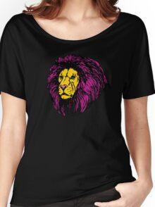 Lion Modern Pop Colors Women's Relaxed Fit T-Shirt