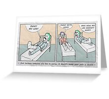 Relative Pain Greeting Card