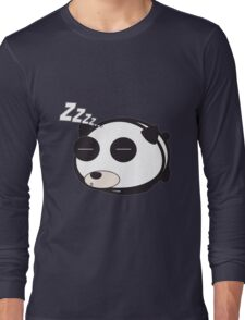 Sleepy panda zzz Long Sleeve T-Shirt