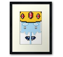 8-bit Ice King Framed Print