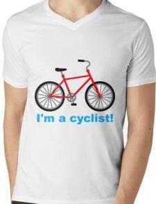 I am cyclist Mens V-Neck T-Shirt
