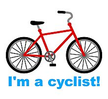 I am cyclist Photographic Print