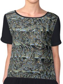 Chrome Glitch Women's Chiffon Top