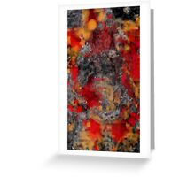 Red Filthy Greeting Card