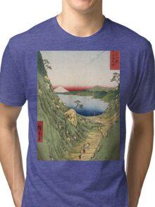 Vintage famous art - Ando Hiroshige  -Japanese Landscape Tri-blend T-Shirt