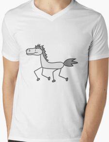 comic cartoon riding gallop pony horse funny sweet cute T-Shirt