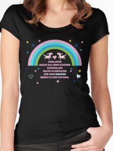 Einhorn Glitzern Women's Fitted Scoop T-Shirt