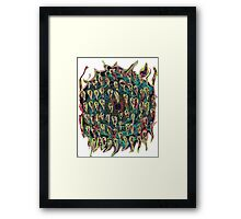 Vortex to hell with lots of color change Framed Print