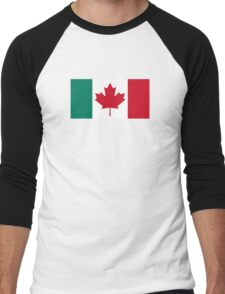 Canada / Italy Flag Mashup  Men's Baseball ¾ T-Shirt