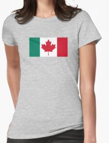 Canada / Italy Flag Mashup  Womens Fitted T-Shirt