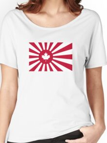 Japan / Canada Flag Mashup Women's Relaxed Fit T-Shirt