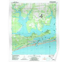 USGS TOPO Map Alabama AL Orange Beach 304753 1980 24000 Poster