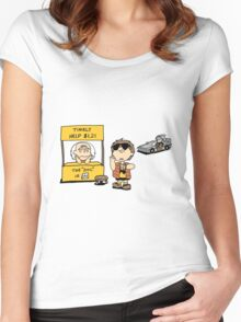 Peanuts Back 2 The Future Women's Fitted Scoop T-Shirt