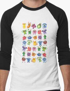 cute monsters Men's Baseball ¾ T-Shirt