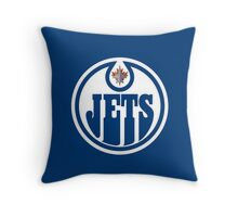 Edmonton Jets - Winnipeg Oilers Throw Pillow